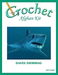 Shark Swimming Crochet Afghan Kit
